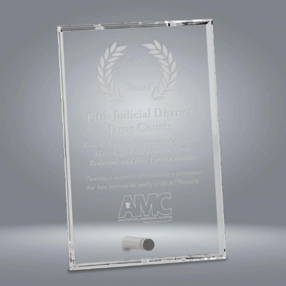 Clear Glass Rectangle Award