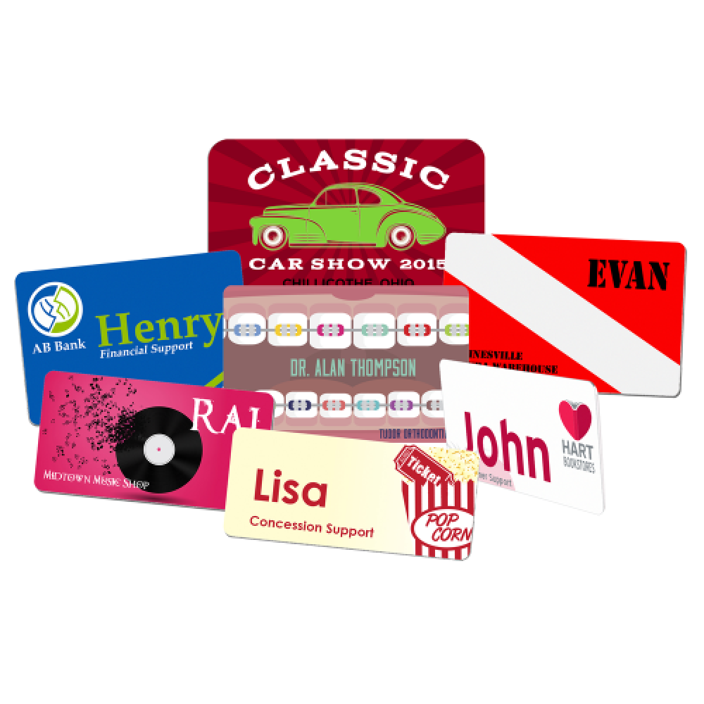 Color Fusion Rectangle Plastic Name Badge (Badges)
