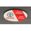 Color Fusion Oval Plastic Name Badge (Badges)