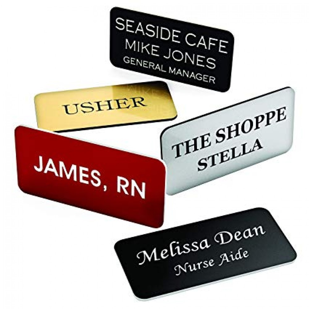 Laser Engraved Custom Name Badge (Customize Me)