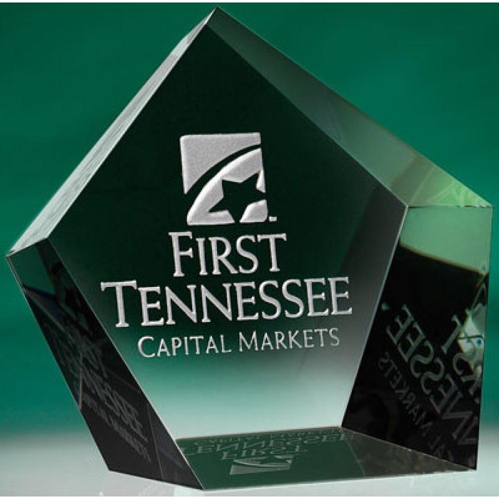 Pentangle Optic Crystal Mini Award (Paperweights & Coasters)