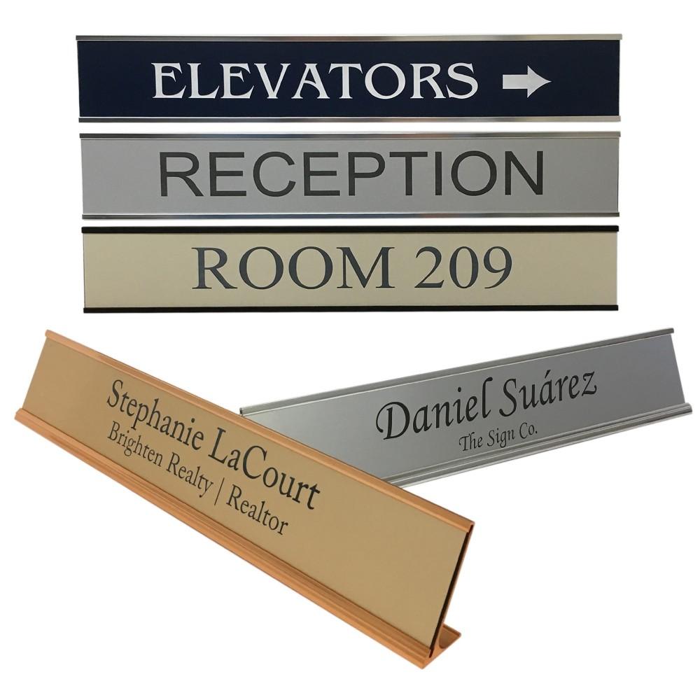 Custom Nameplate With Aluminum Holder (Customize Me)