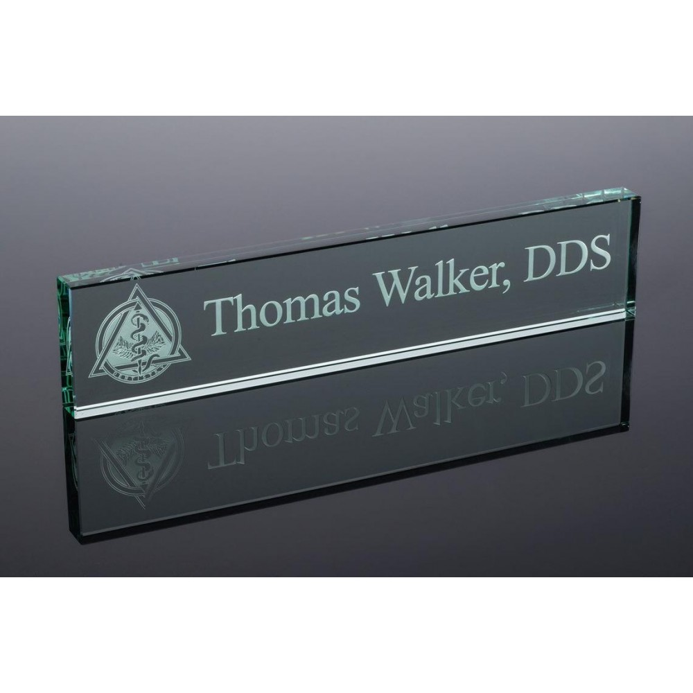 Jade Glass Nameplate (While Quantities Last!)