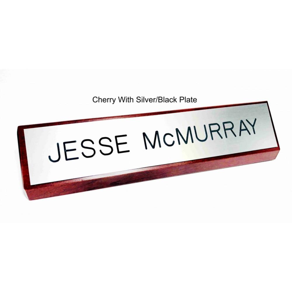 "Custom Desk Wedge Nameplate - 8"" & 10"" (Customize Me)"