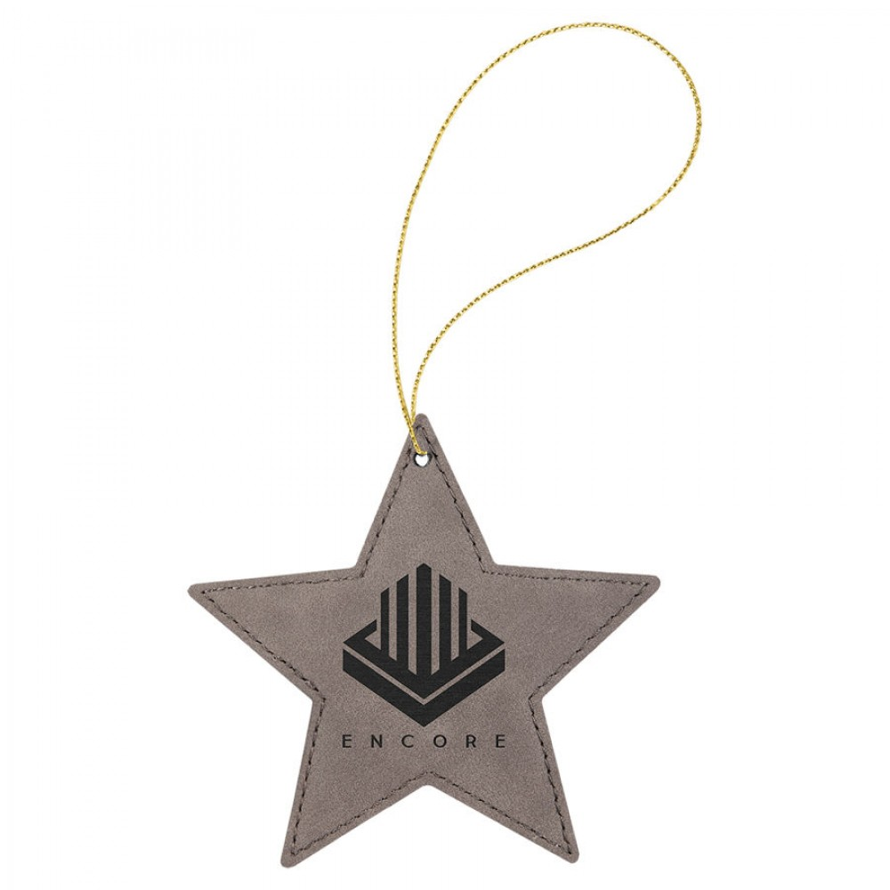 Leatherette Star Ornament with String