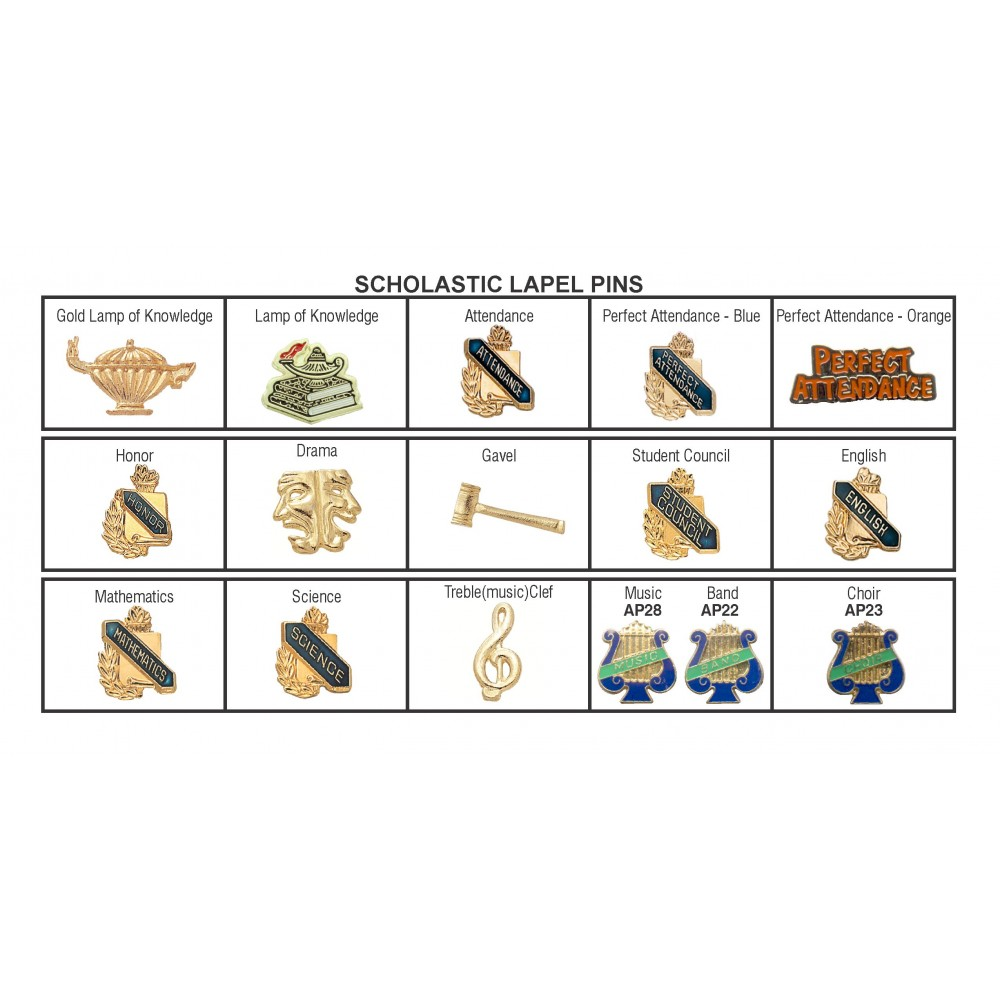 Scholastic Lapel Pins (New Arrivals!)