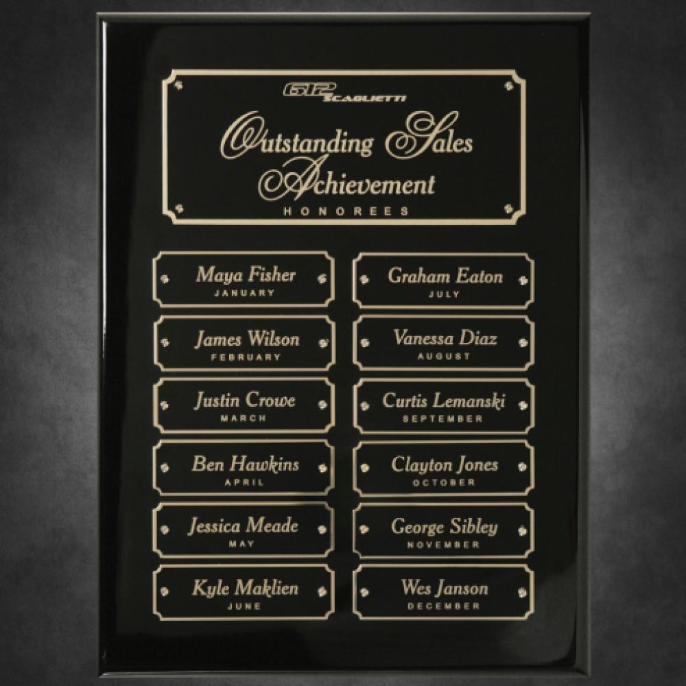 Piano Finish Perpetual Plaque (Plaques)