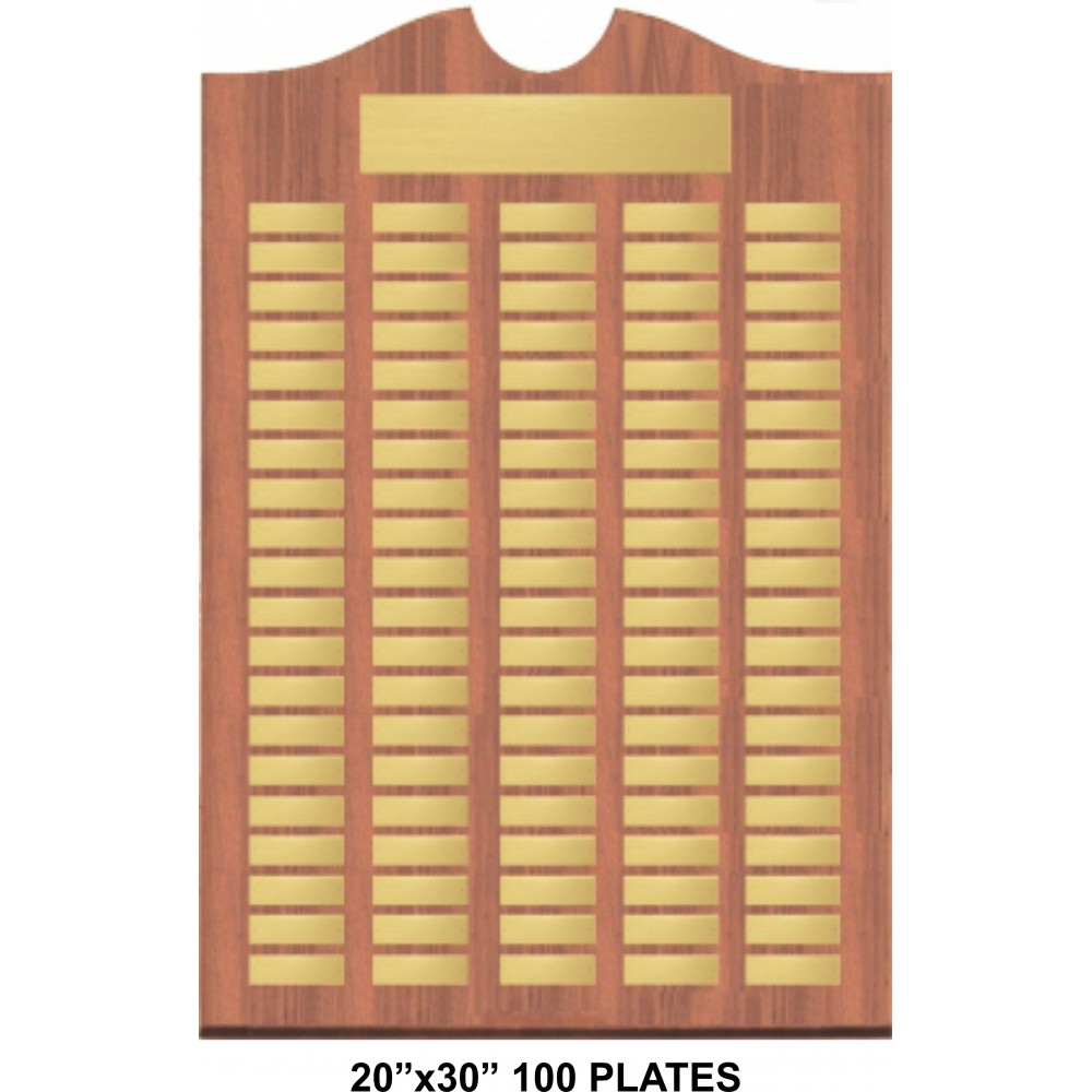 Perpetual Plaque with 12, 60, or 100 Brushed Brass Plates (Plaques)