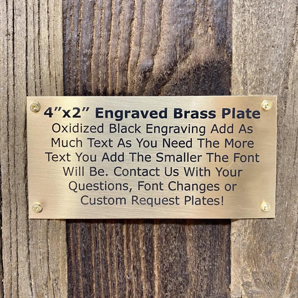 "2""x4"" Brass Metal Plate with Screws"