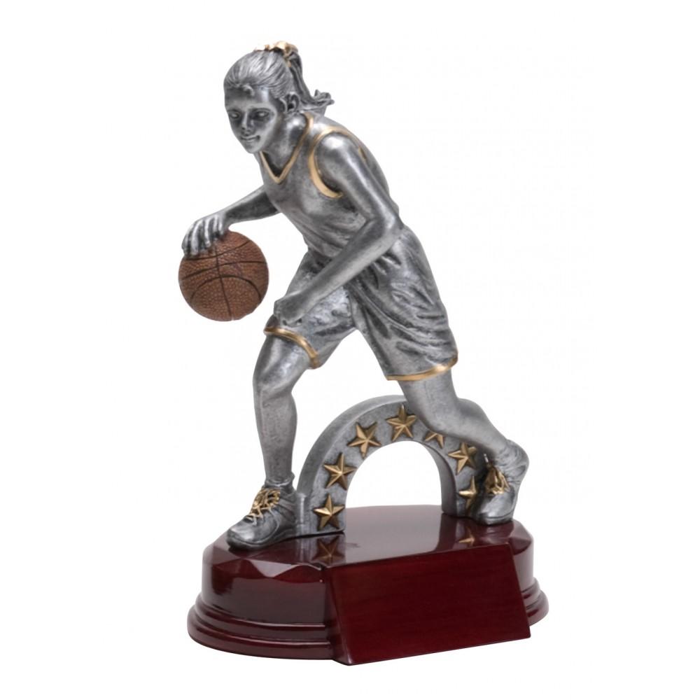 Resin Basketball Female Trophy (Basketball)