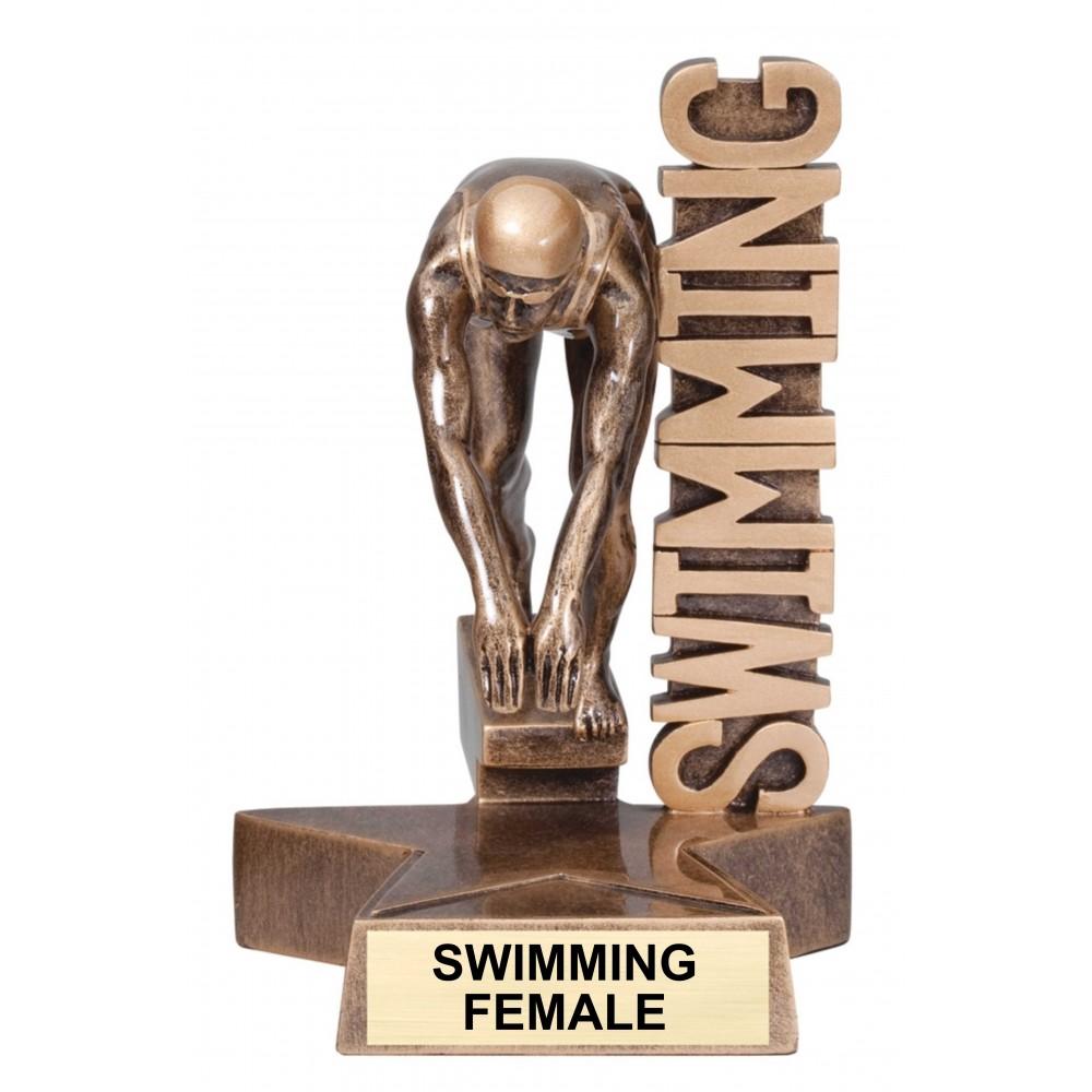 Large Billboard Sports Trophy (Swim & Dive)