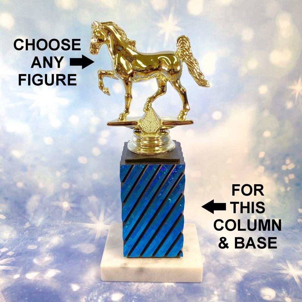 Custom Single Blue Square Column - A1 (Customize Figure)